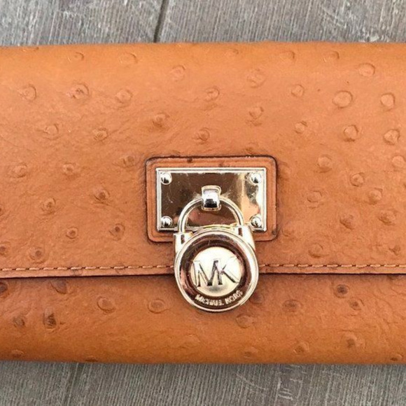 07c53502303b MICHAEL KORS HAMILTON Orange Ostrich Wallet. M 5c17b570aa8770bfd4828c55.  Other Bags ...